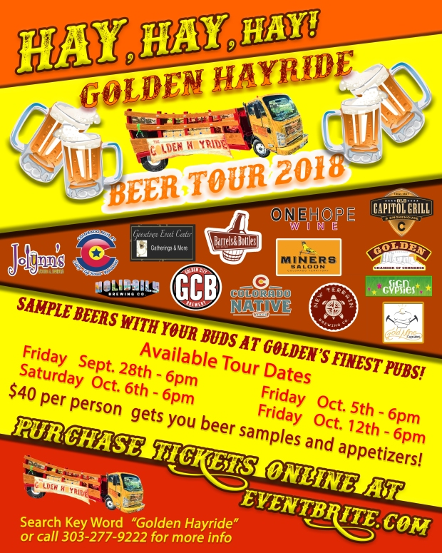 Golden Hayride Beer Tour Poster 2018